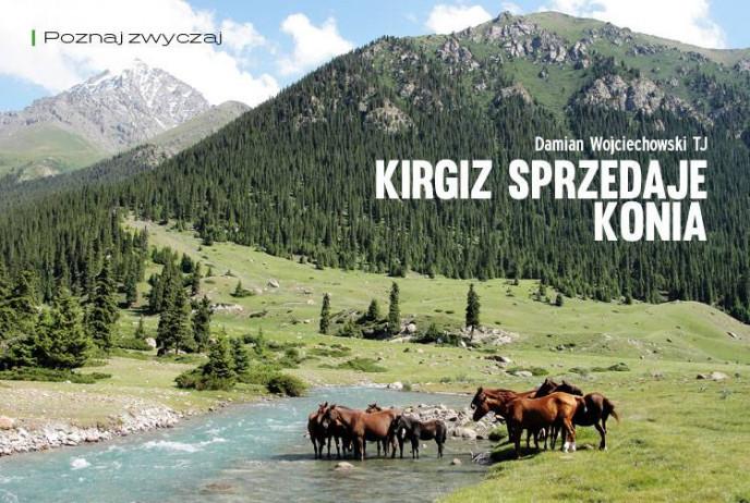 Kirgiz sprzedaje konia