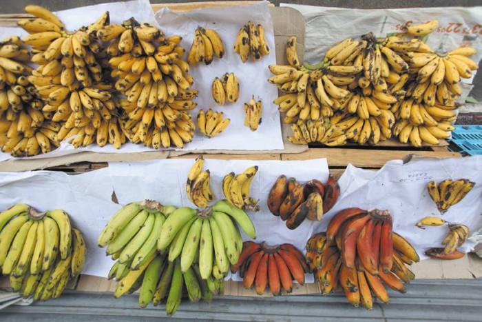 Banany na targowisku / Meksyk