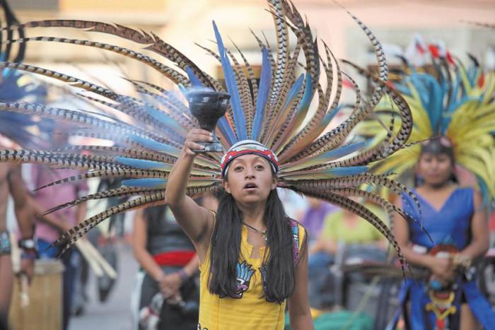 Uczestniczka meksykańskiego święta / Meksyk